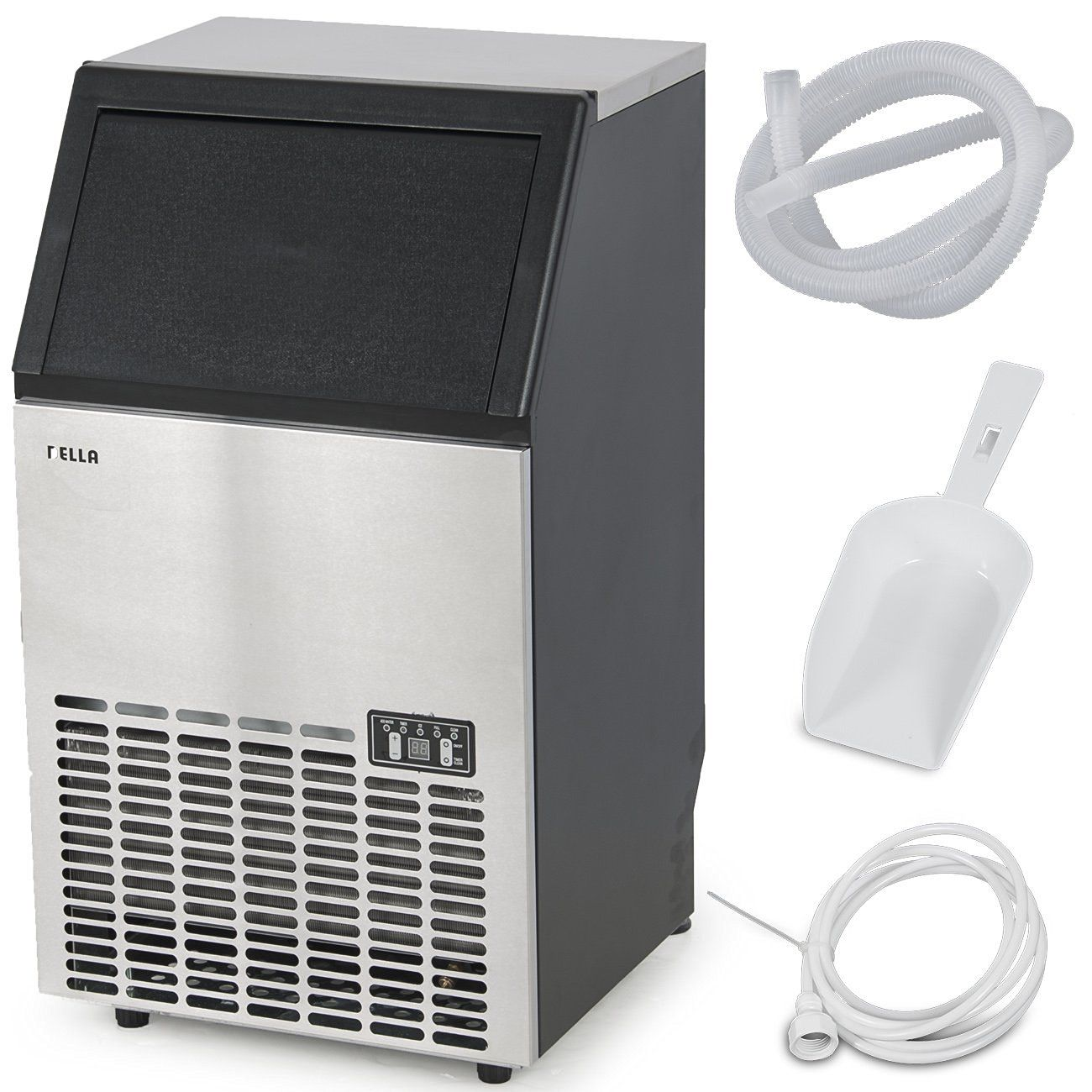 Della 048 Gm 48196 Stainless Steel Commercial Ice Maker