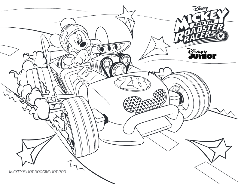 mickey and the roadster racers coloring pages Image result for toddler roadster mickey coloring puzzle | ℳℰᎯℒЅ  mickey and the roadster racers coloring pages