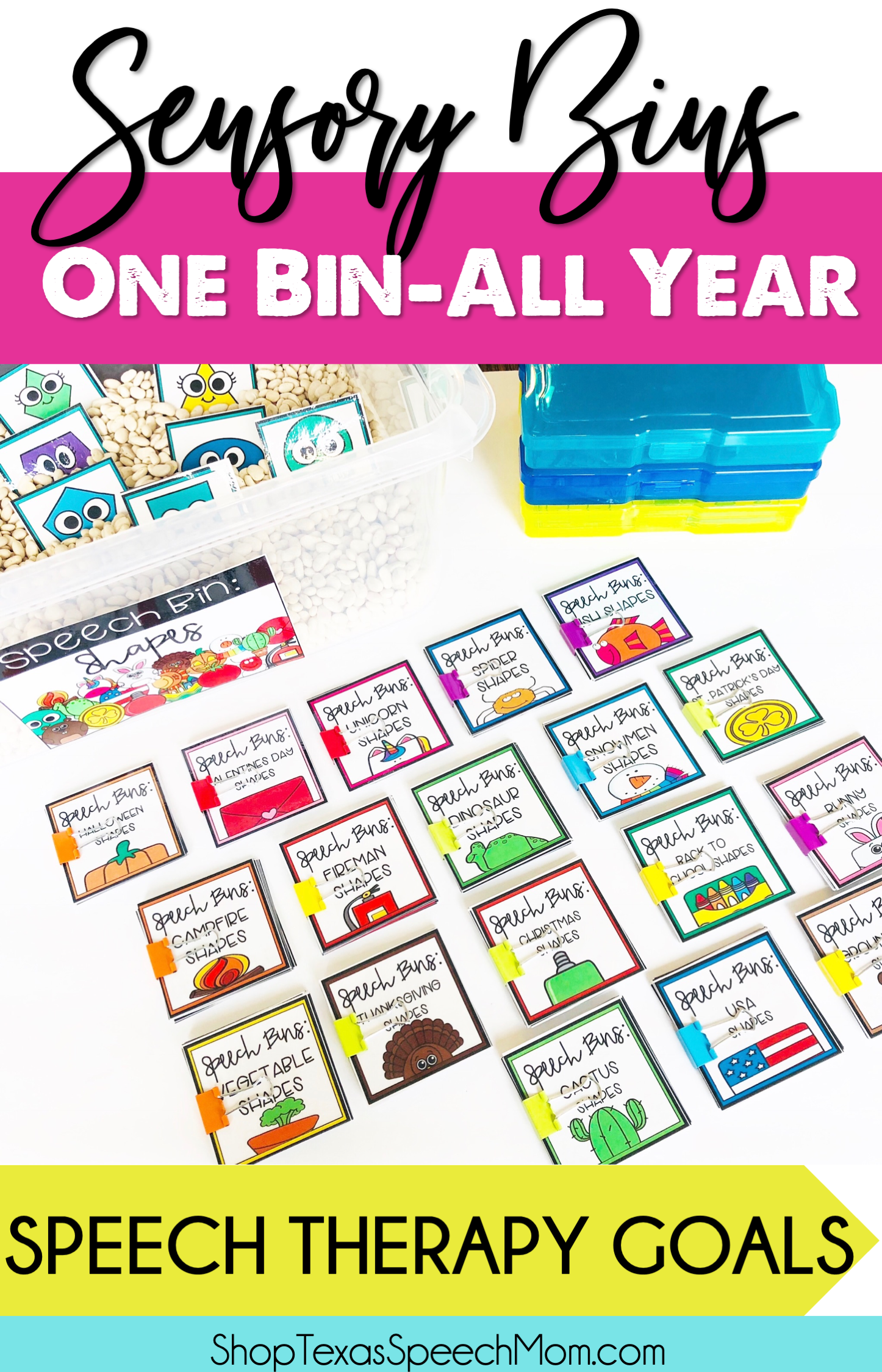 How To Use One Sensory Bin All Year For Speech Therapy