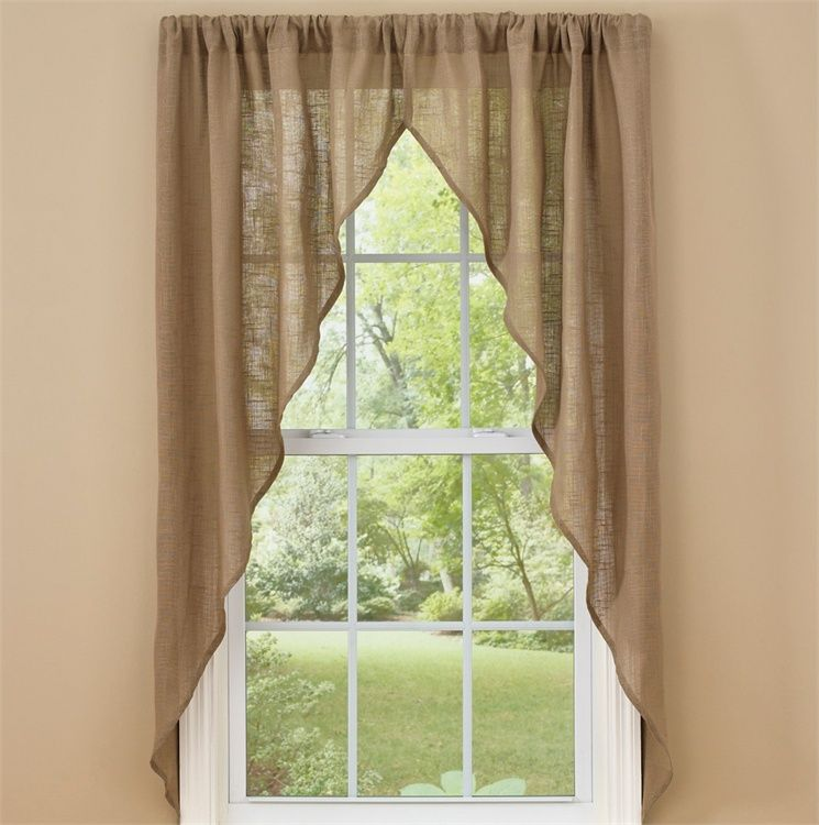 Taupe Courtland Romantic Window Curtain Swag 72 X 63 In