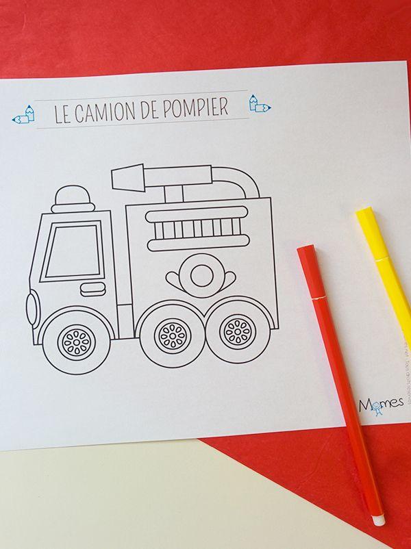 Coloriage Le Camion De Pompier Coloriage Pompier Pompier Et
