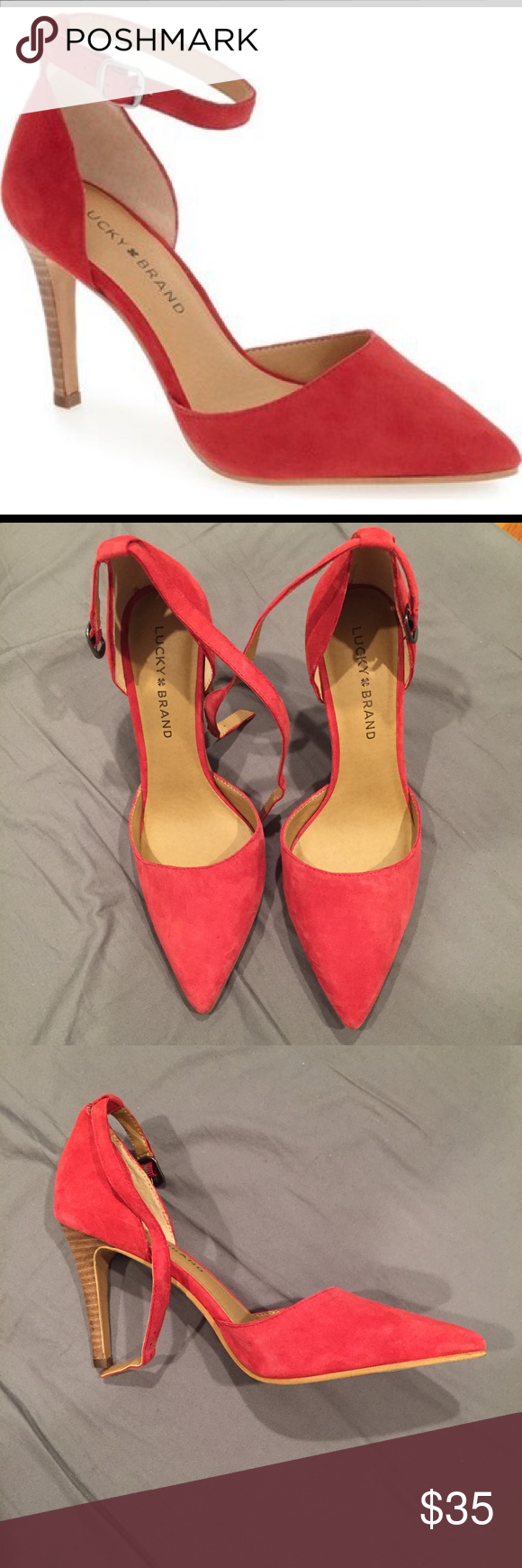 83266736740 Lucky Brand Suede Pumps