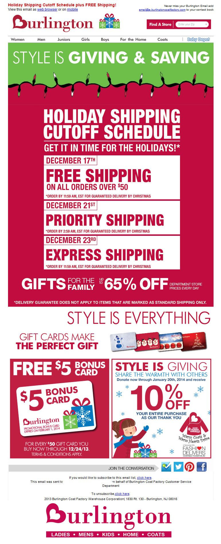 Hurry order dates for christmas delivery gagemo email marketing email design xflitez Gallery