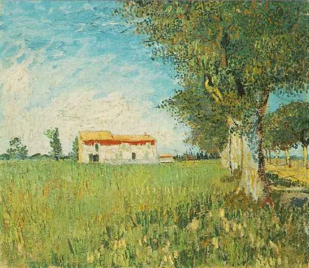 Vincent van Gogh: The Oil Paintings: Farmhouse in a Wheat Field. Arles: May, 1888