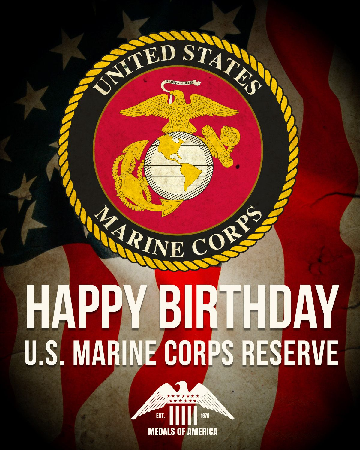 Happy Birthday to the U.S. Marine Corps Reserve! Thank you