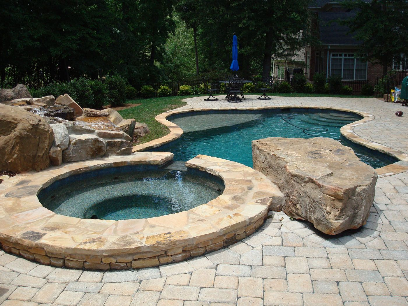 Freeform Concrete Pool | Dream Home: Pools | Pinterest | Concrete Pool,  Concrete And Backyard