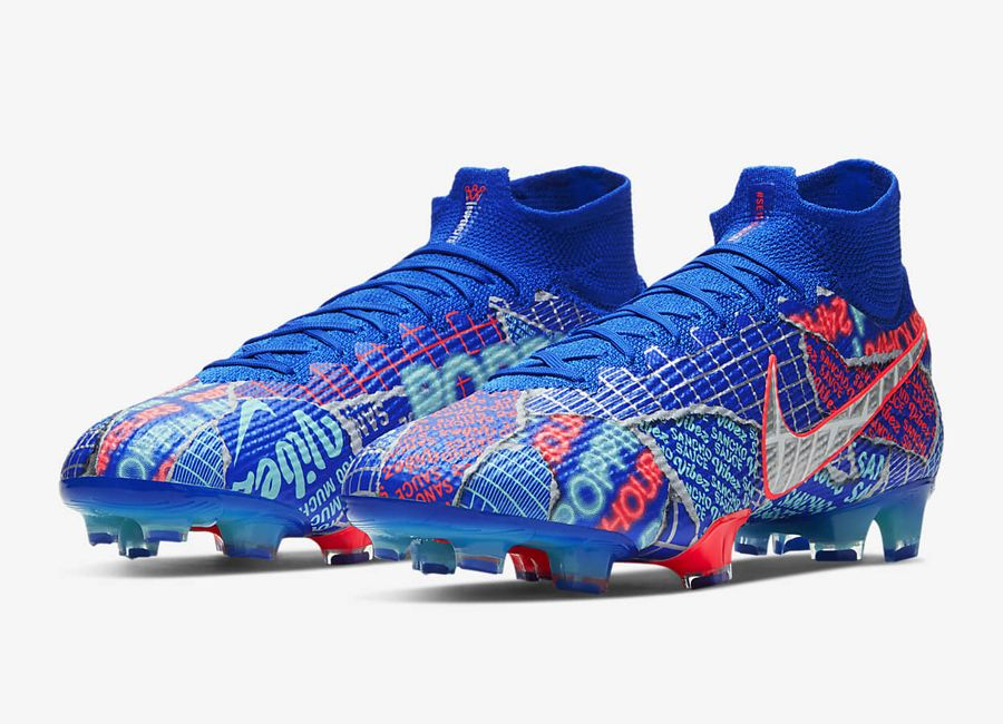 Ike Mercurial Superfly 7 Elite Se11 Sancho Fg Racer Blue Black White Nikefootball Footballboots Nikefutbol In 2020 Superfly Football Boots Nike Football