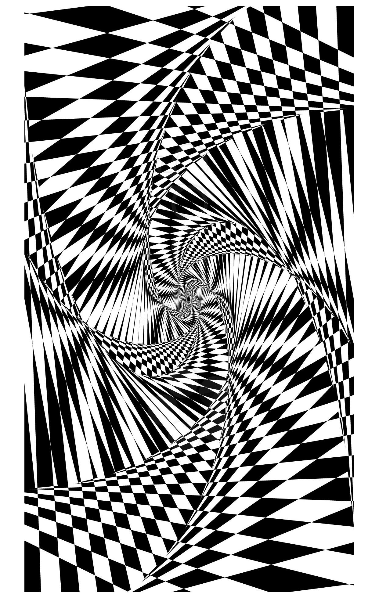 Psychedelic 1bis - Psychedelic Coloring Pages for Adults ...