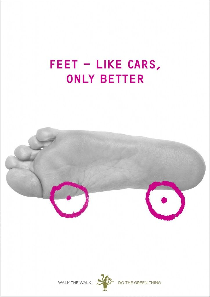 "#poster ""Feet - like cars, only better"" by Marina Willer"