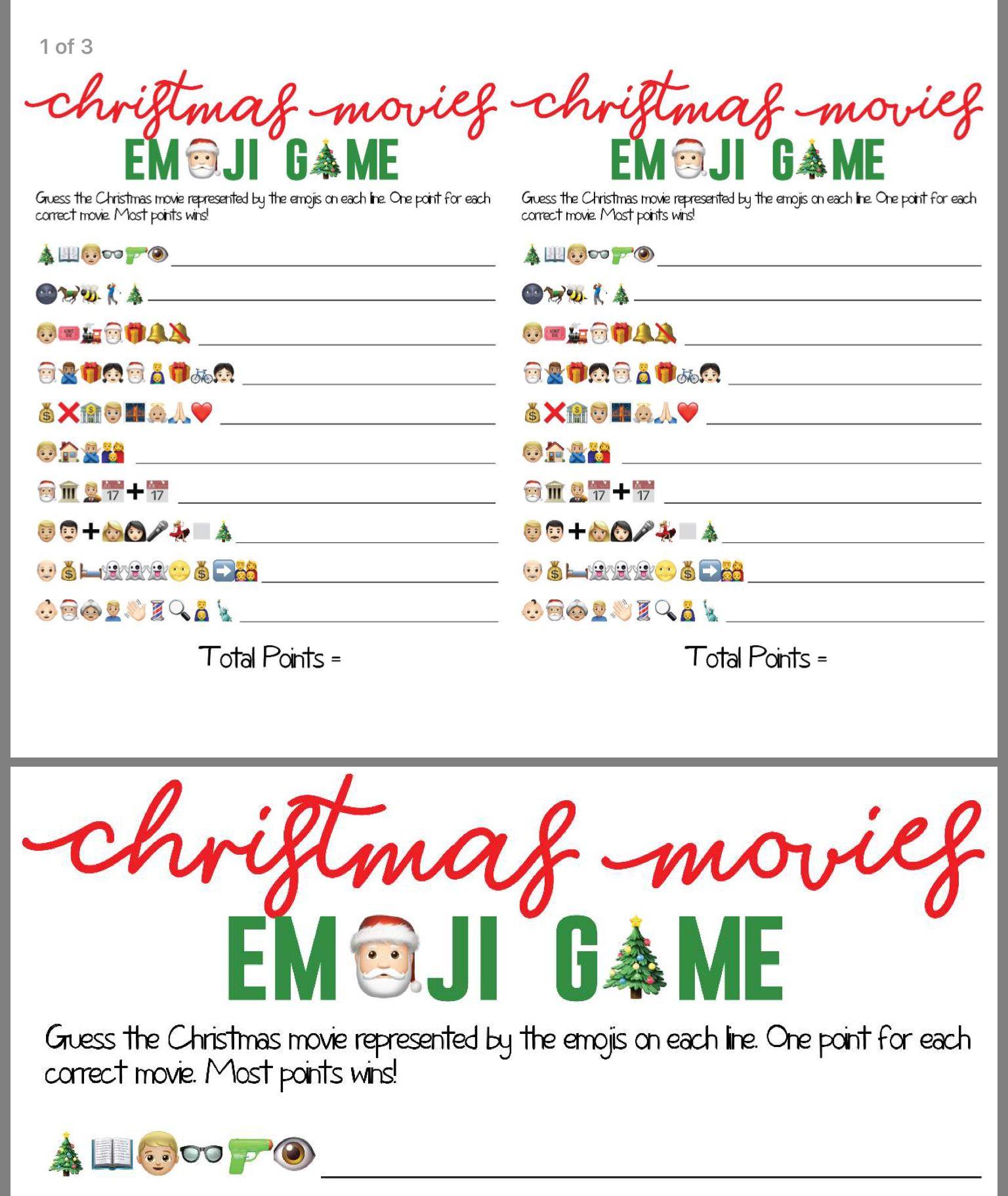 Pin By Kim Dalglish On Christmas Emoji Games Christmas Games Christmas Movies