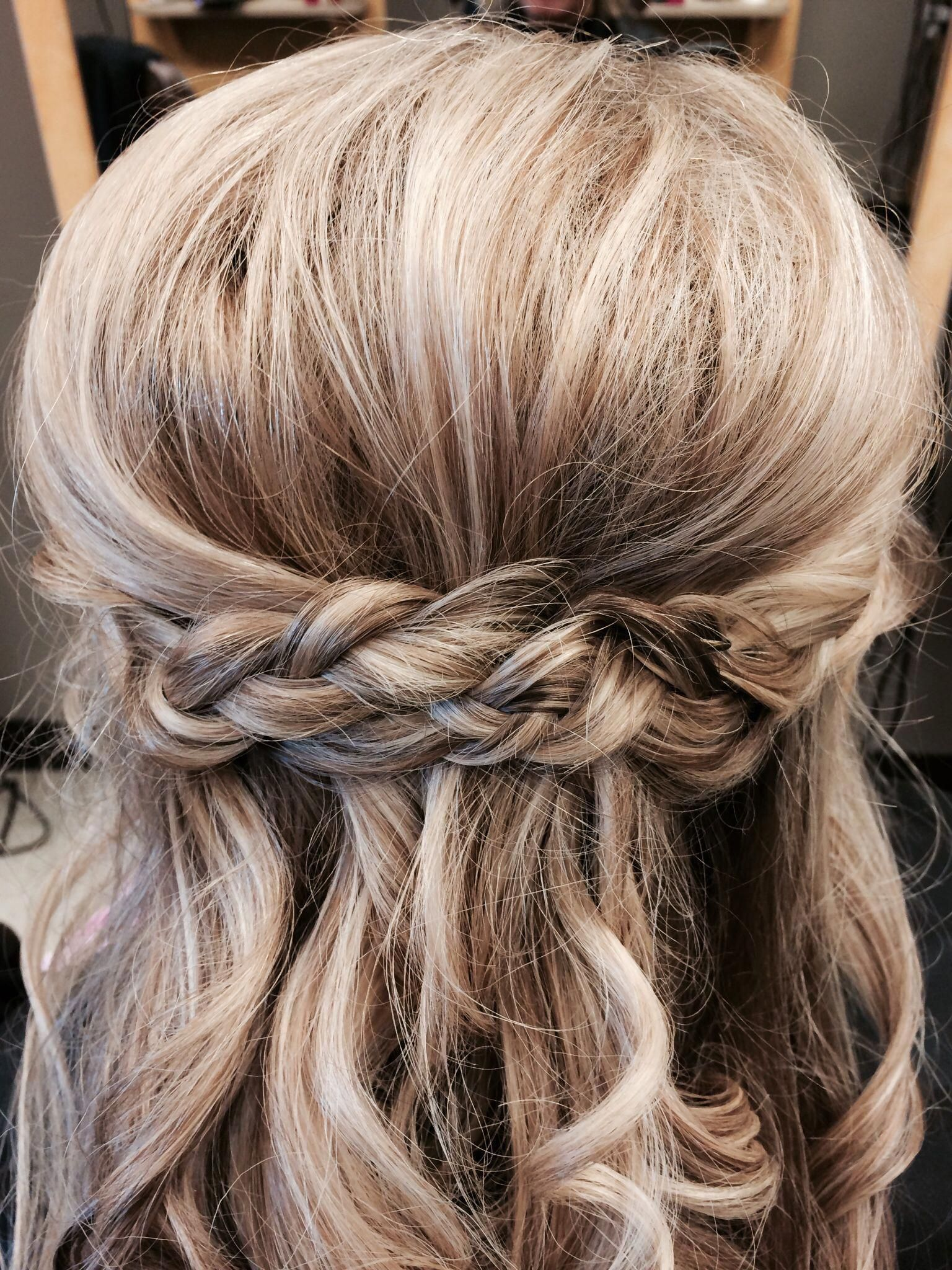 Prom 2014 Half up half down with braids # ...
