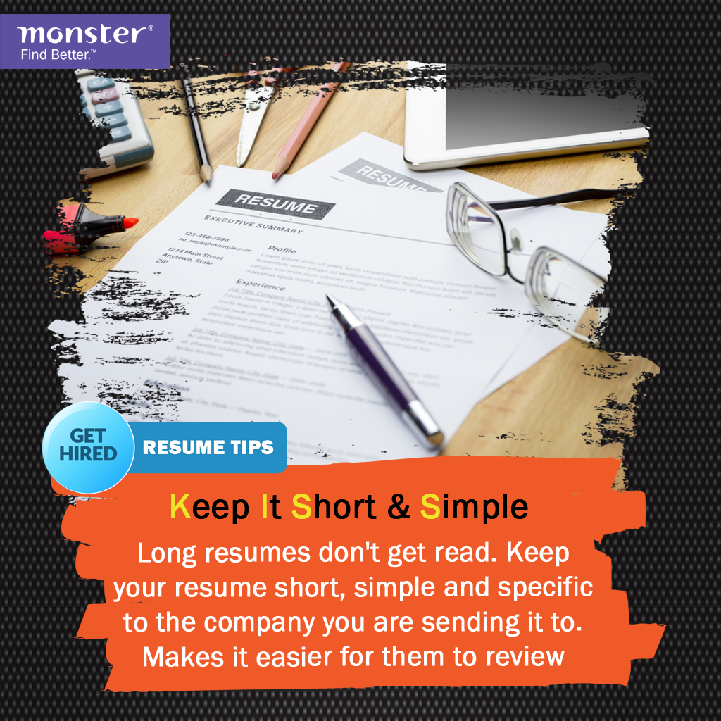 Resumetip Your Resume Speaks Volumes About Who You Really Are But Keep It Short Simple And Specific Resume Tips Simple Resume Job Search
