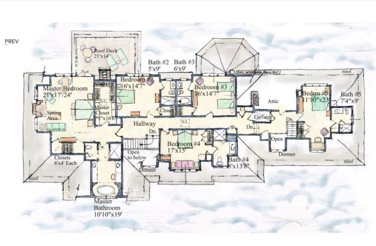 Country home second floor mansion floor plan pool