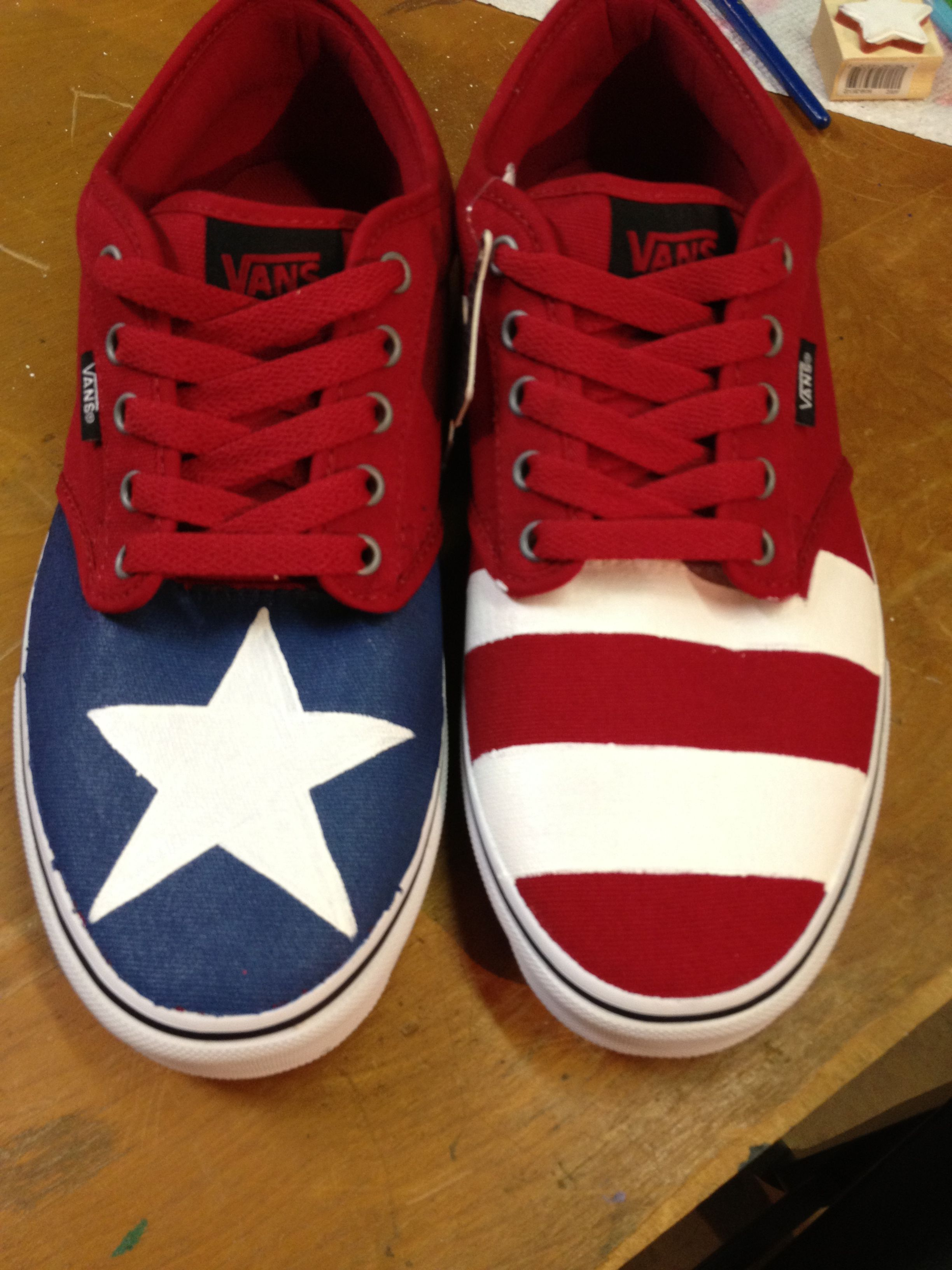 Puerto Rican Flag Vans If You Would Like A Pair Of Custom Vans Send Me An Email Here Custompaintedkicks Puerto Rican Festival Puerto Ricans Puerto Rican Flag