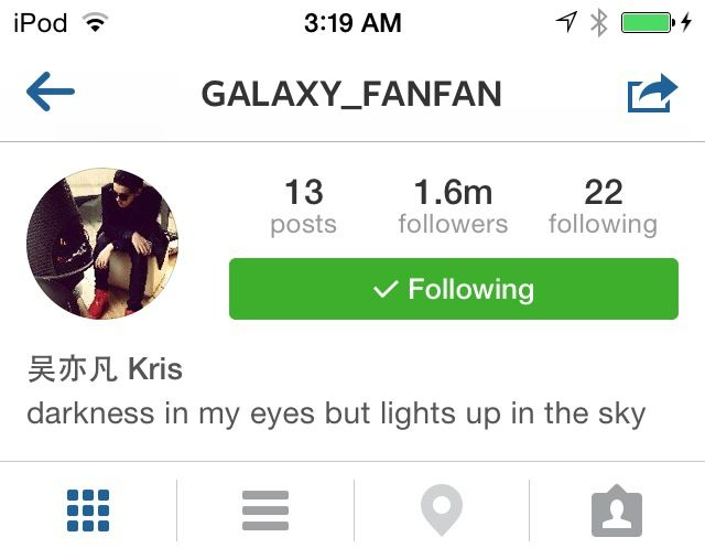 Kris Instagram Bio Update I Actually Wrote A Poem A Couple Years Ago That Is His Bio But In Full Poem Version