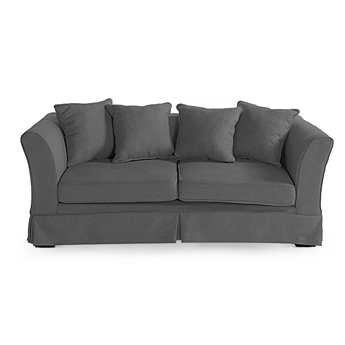 Sofa IHLOW Leinen dunkelgrau ca L:196 x T:86 x H:73,5 cm
