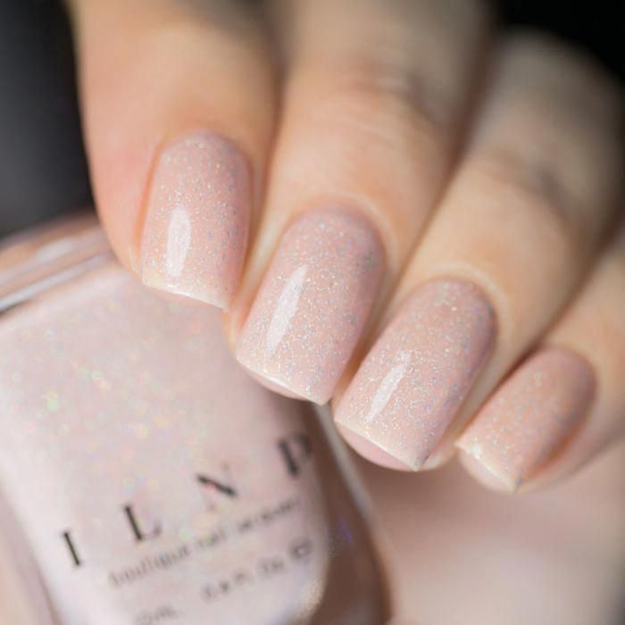 Birthday Suit - Cashmere Pink Holographic Nail Polish by ILNP