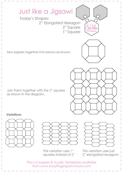 Just Like A Jigsaw English Paper Piecing Paper Piecing Quilts English Paper Piecing Quilts