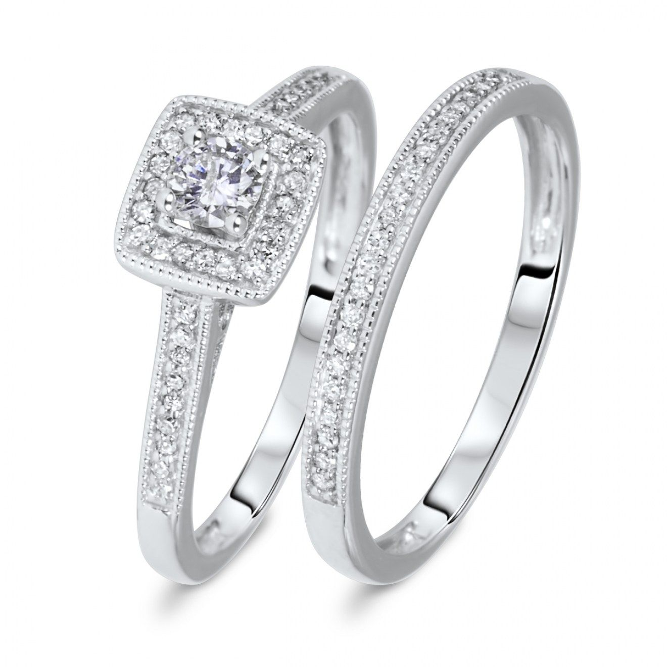 30 Best Wedding Ring Sets White Gold Inspiration
