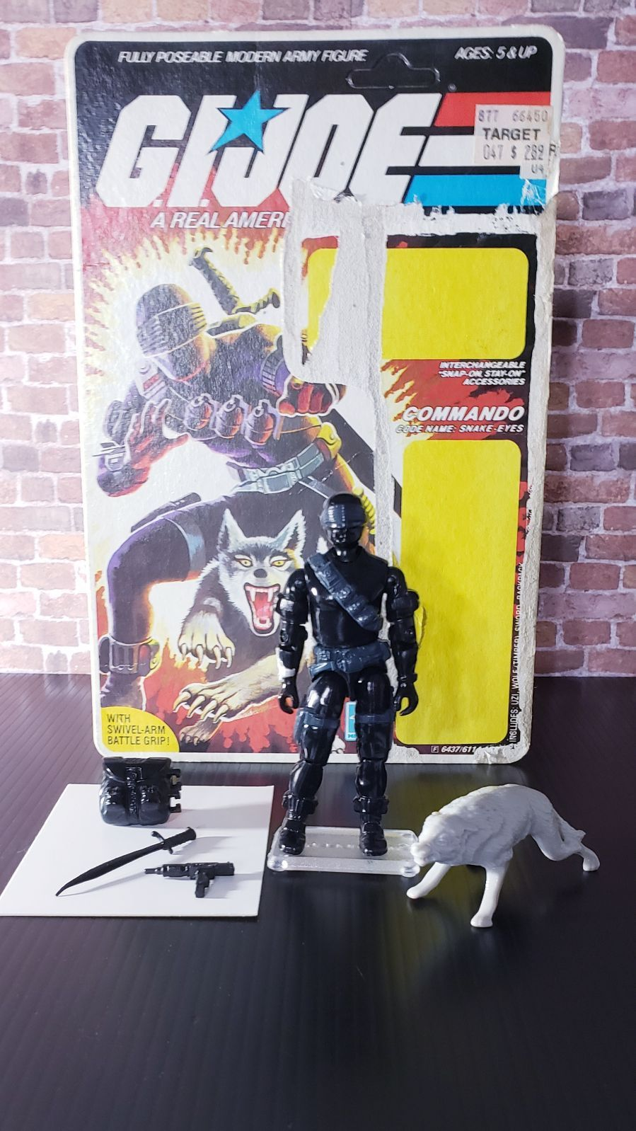 Rare Htf Uncut Unpunched Filecard Original V2 1985 Vintage Action Figure Snake Eyes And Timber The Card Has Min Snake Eyes Action Figures American Heroes