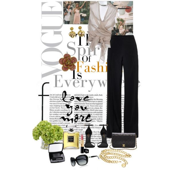 A fashion look from March 2015 featuring Haider Ackermann tops, Oscar de la Renta pants and Yves Saint Laurent sandals. Browse and shop related looks.