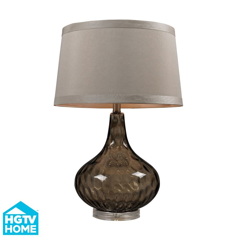 Hgtv148 bedford 1light table lamp in coffee smoked