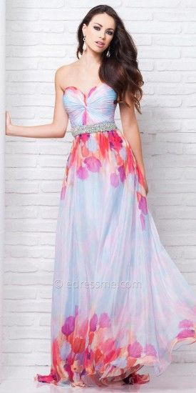 Iridescent Print Prom Gown by Tony Bowls Le Gala #dresses #fashion #designer #beauty #designerdresses #tonybowls #edressme