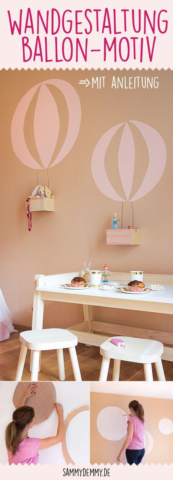DIY Wand mit BallonMotiv (mit Bildern) Kinder zimmer