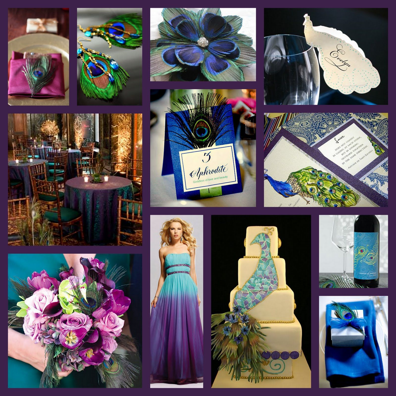 Peacock Wedding Themes Decorations