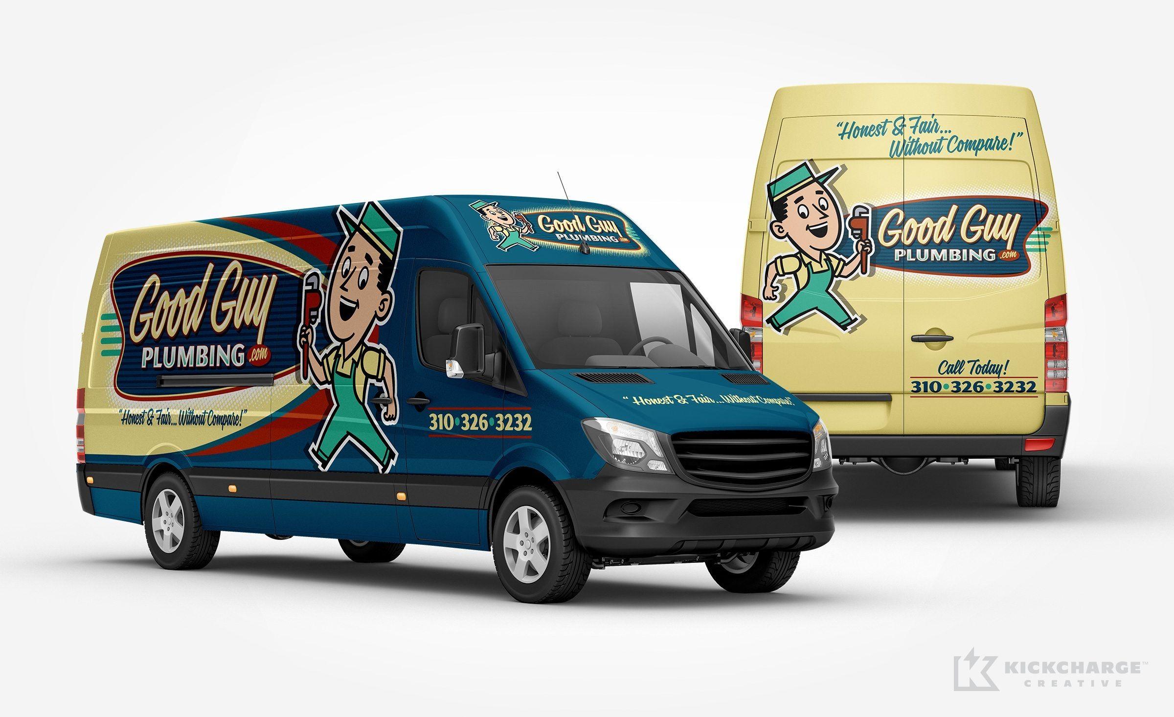 Good Guy Plumbing Kickcharge Creative Cool Trucks Car Wrap
