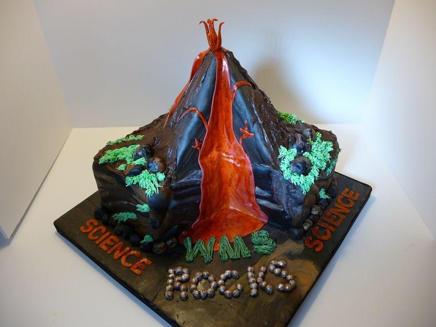 Volcano Cake Cakecentral Birthday Themes Pinterest