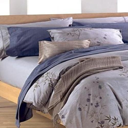 Calvin Klein Bamboo Flower Hyacinth 220t Cotton Full Fitted Sheet