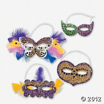 Plain Mardi Gras Masks To Decorate Adorable For Mardi Gras Mask Program Show As Decorated Comes As Plain Decorating Design
