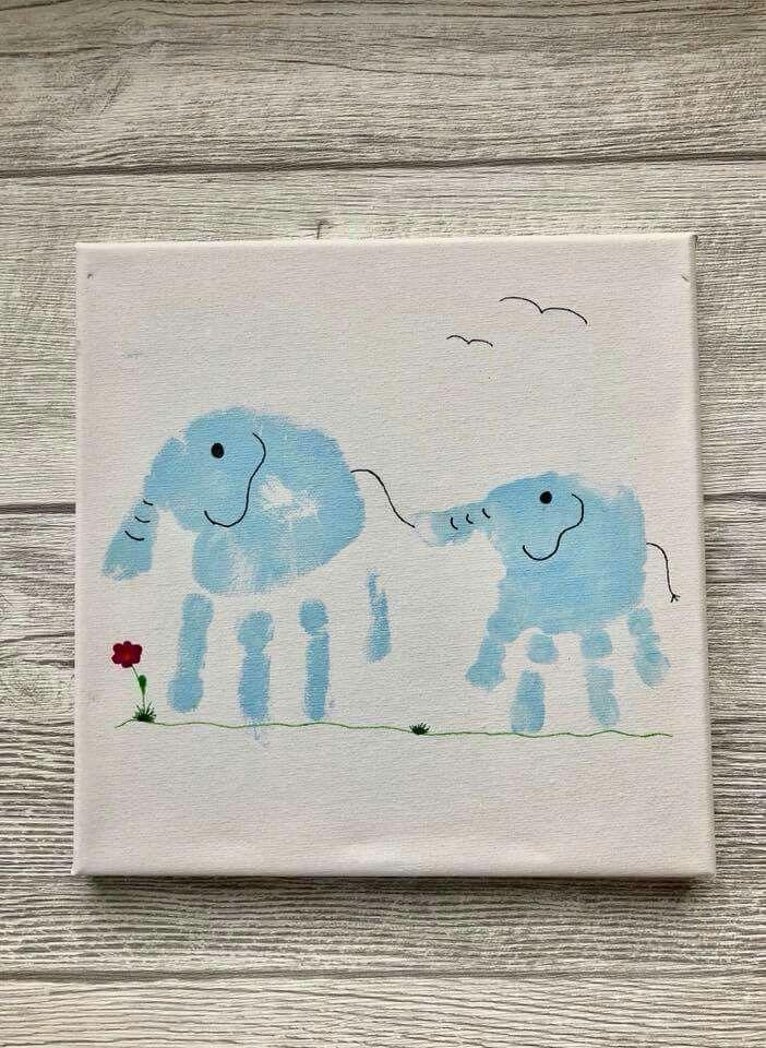 Elefanten-Handabdrücke - Geschwisterbild auf Lein... - #arbeitsplatte #auf #ElefantenHandabdrücke #Geschwisterbild #Lein #mugartideas
