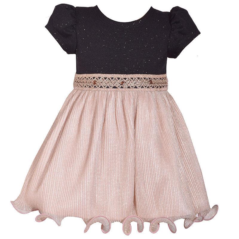 Bonnie Jean Girls Short Sleeve A Line Dress Baby | Bonnie