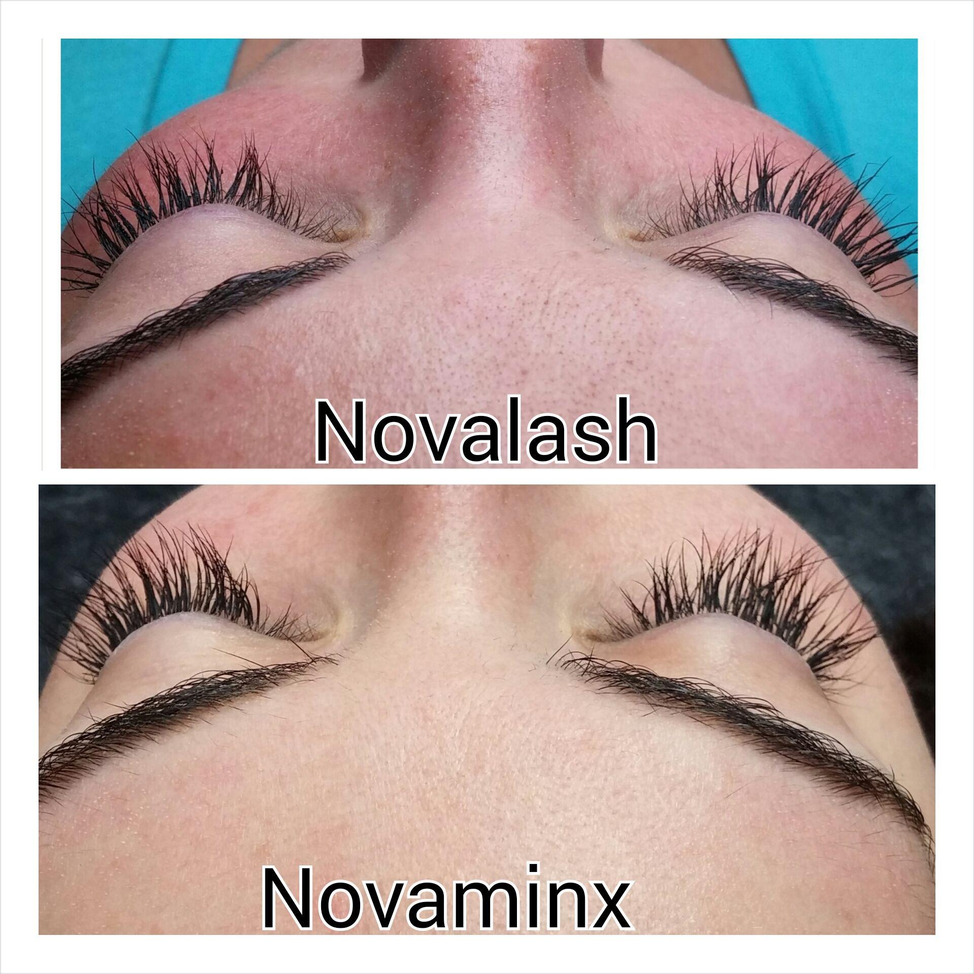Comparison between #novalash and #novaminx mini set of