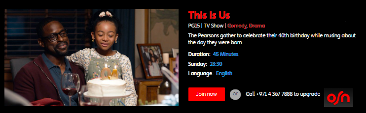 Watch Comedy Drama This Is Us On Osn Good Comedy Movies Comedy Paramount Movies