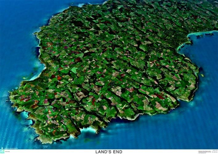 3d Map Of England.Skyview Land S End Cornwall 3d Aerial Photo England Map Stop