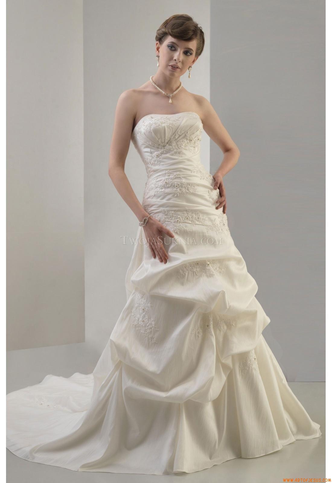 Elegant Strapless Court Train Unique Wedding Dress Venus AT4461 ...