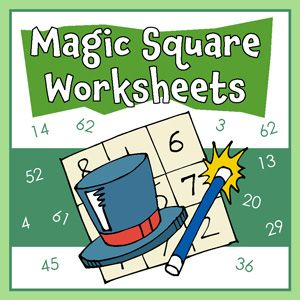 Free Printable Magic Squares Worksheets For Math Class Containing