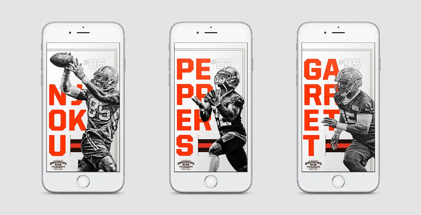 Cleveland Creative Design: 2017 Cleveland Browns IPhone Wallpapers On Behance