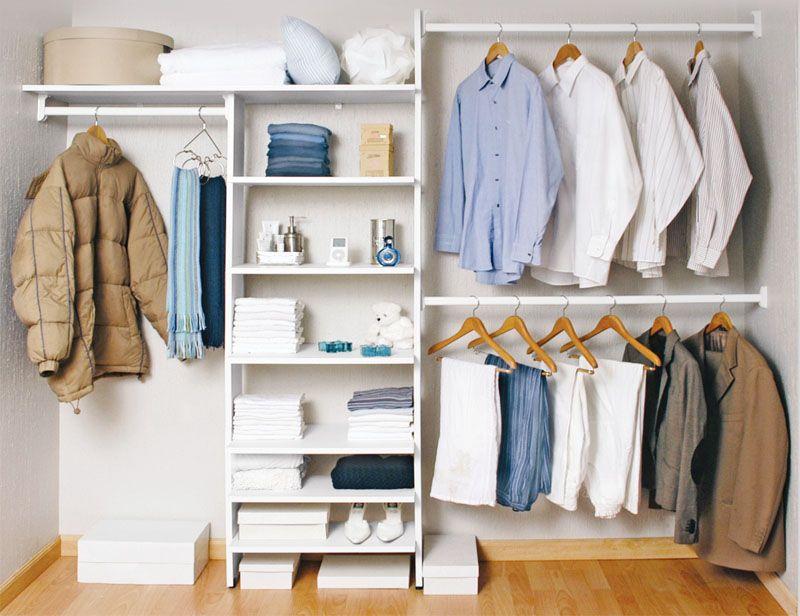 Closet esencial 246 cm blanco touch cl set c modas y for Closet blanco pequeno