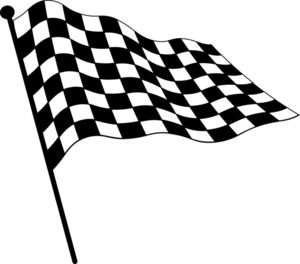 checkered flag clipart image clip art illustration of a checkered rh pinterest ca checkered flag banner clipart checkered racing flag clipart