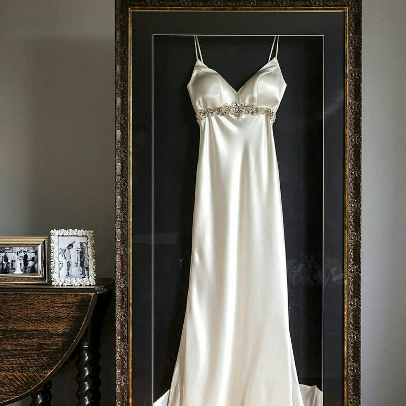 Framed Wedding Dress Beautiful Essense Of Australia Silk Lessismore Dress We Just Love Framing Wedd Wedding Dress Frame Wedding Frames Wedding Dress Storage