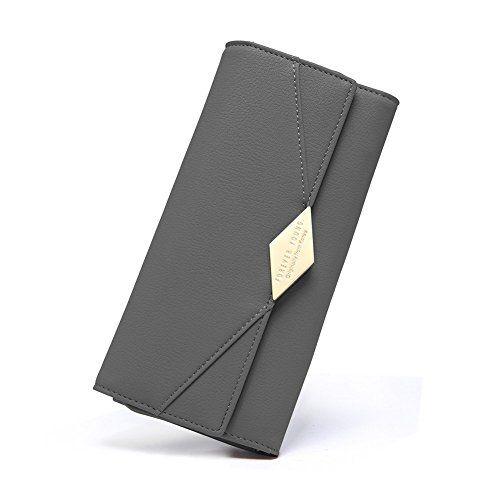 96474d208ada8 Damen Geldbörse PU Leder Kreditkarte Halter Lang Handy Geldbeutel ...