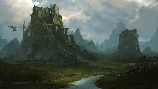 30 Great Environments Concept Art And Illustrations Fantasy Art Landscapes Fantasy Landscape Environment Concept Art