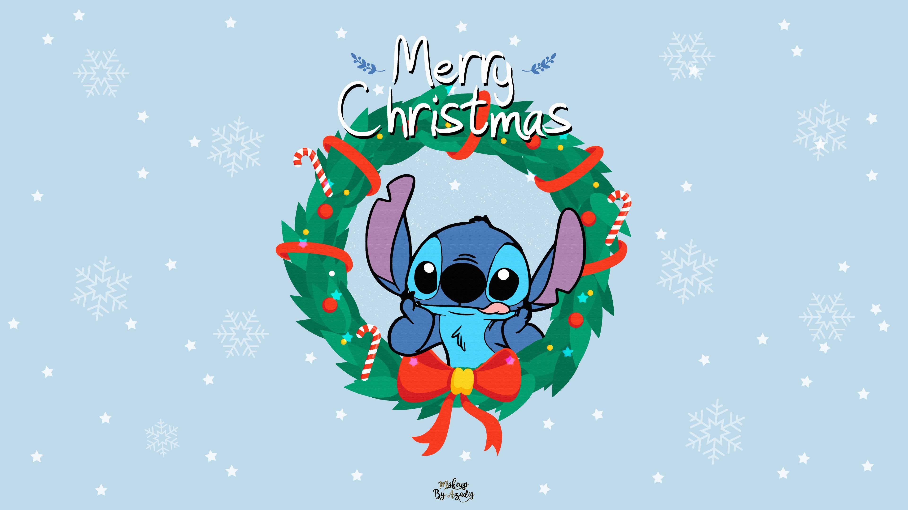 9 Fond D Ecran Disney Stitch Christmas Fond Ecran Disney