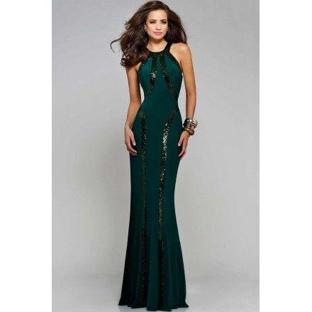 95519e162 Vestido Largo Verde Esmeralda