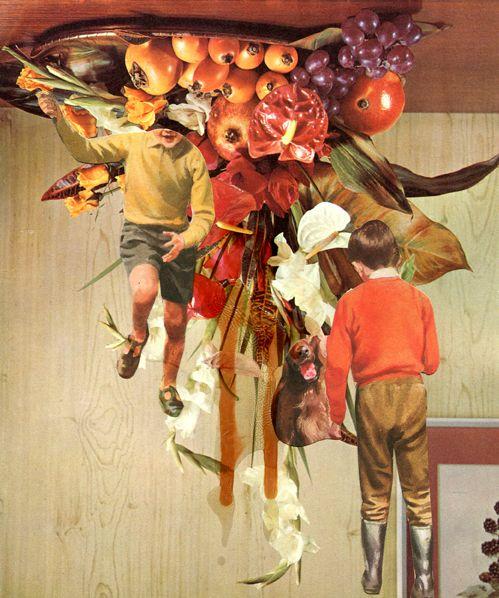 Catalina Schliebener, Flowers 10, 19 x 25 cm, collage de libros, 2011     Bisagra arte contemporaneo