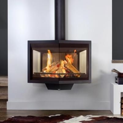 wall mounted gas wood stoves | Wanders Black Diamond Wall Mounted Wood  Burning Stove - Wall Mounted Gas Wood Stoves Wanders Black Diamond Wall Mounted